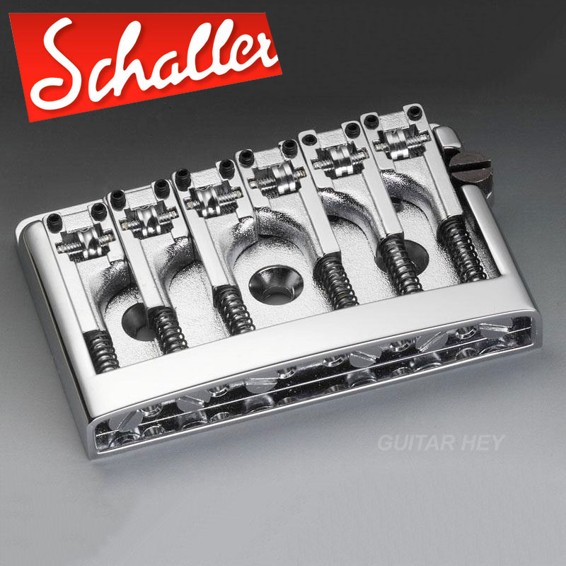 new schaller non tremolo roller bridge saddle adjustable spacing 3d 6 chrome. Black Bedroom Furniture Sets. Home Design Ideas