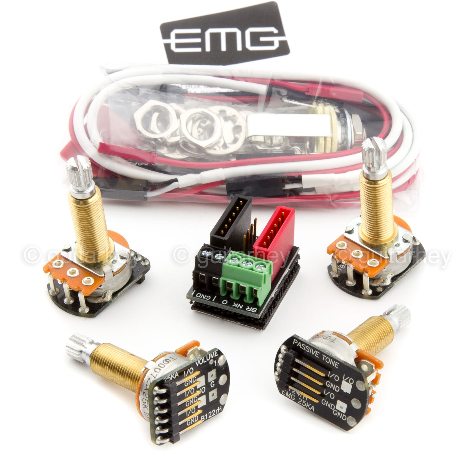 Emg Wiring Kit Uk Diagrams How To Wire Pickups New Solderless Conversion For 1 2 Bass Guitar Pickup